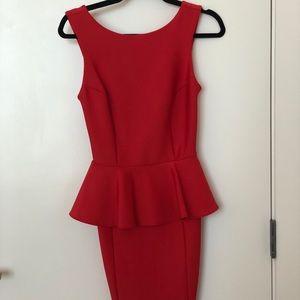 Top shop peplum neoprene dress